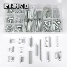 GUSIWU 200 sztuk/zestaw sprężyna dociskowa drutu zestaw asortymentowy ocynkowana stali nierdzewnej sprężyna rozciągana zestaw sprzętu narzędzie
