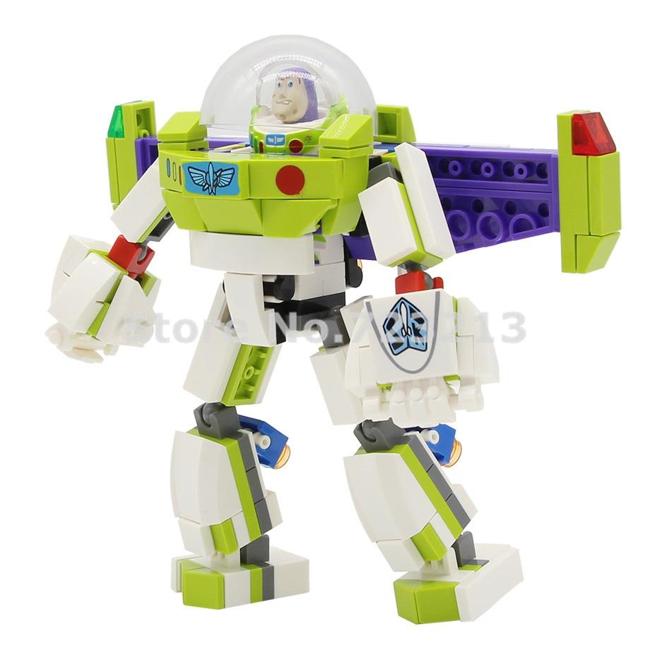 8 in 1 Toy Story 4 Woody Buzz Lightyear Mini figure Building Blocks Toy Fit Lego
