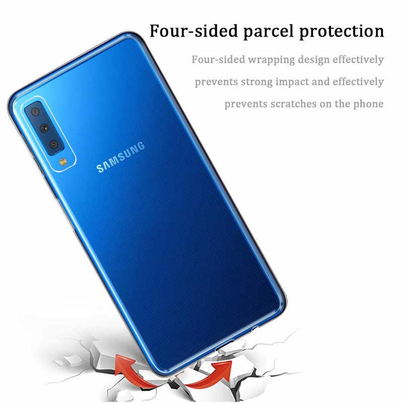 Untuk Samsung Galaxy A51 A71 A50 Case Transparan Lembut TPU Silikon Cover UNTUK Samsung A70 A40 A30 A20 A10 M31 m51 A20e Catatan 20 S10