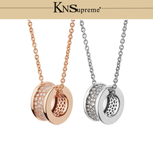 KN Bulgaria Zircon necklace 1:1 Original 100% 925 Sterling Silver Women Free Shipping Jewelry High-end Quality Gift Have logo