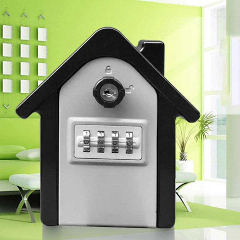 4 Digit Outdoor High Security Wall Mounted Key Safe Box Code Secure Lock Storage E65A