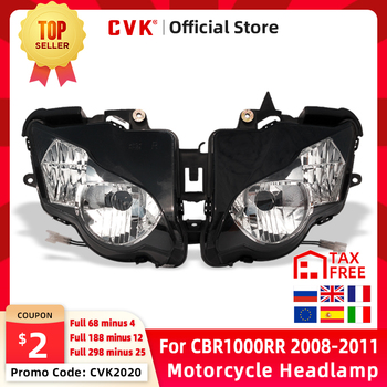 цена на CVK Motorcycle Headlight Headlamp Head Light For HONDA CBR1000RR 2008 2009 2010 2011 CBR1000 CBR 1000RR 08 09 Head Lamp Parts