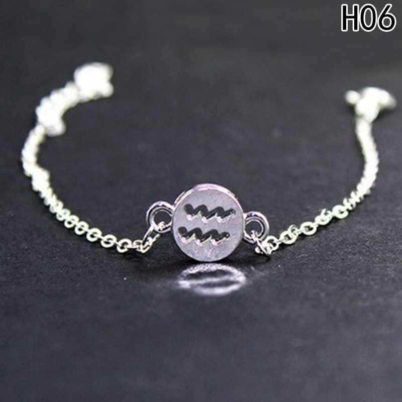 Простые 12 двенадцати браслеты с изображениями созвездий и браслеты полые Близнецы рыбы скорпион шарм браслеты ювелирные изделия для женщин и мужчин подарки для пары
