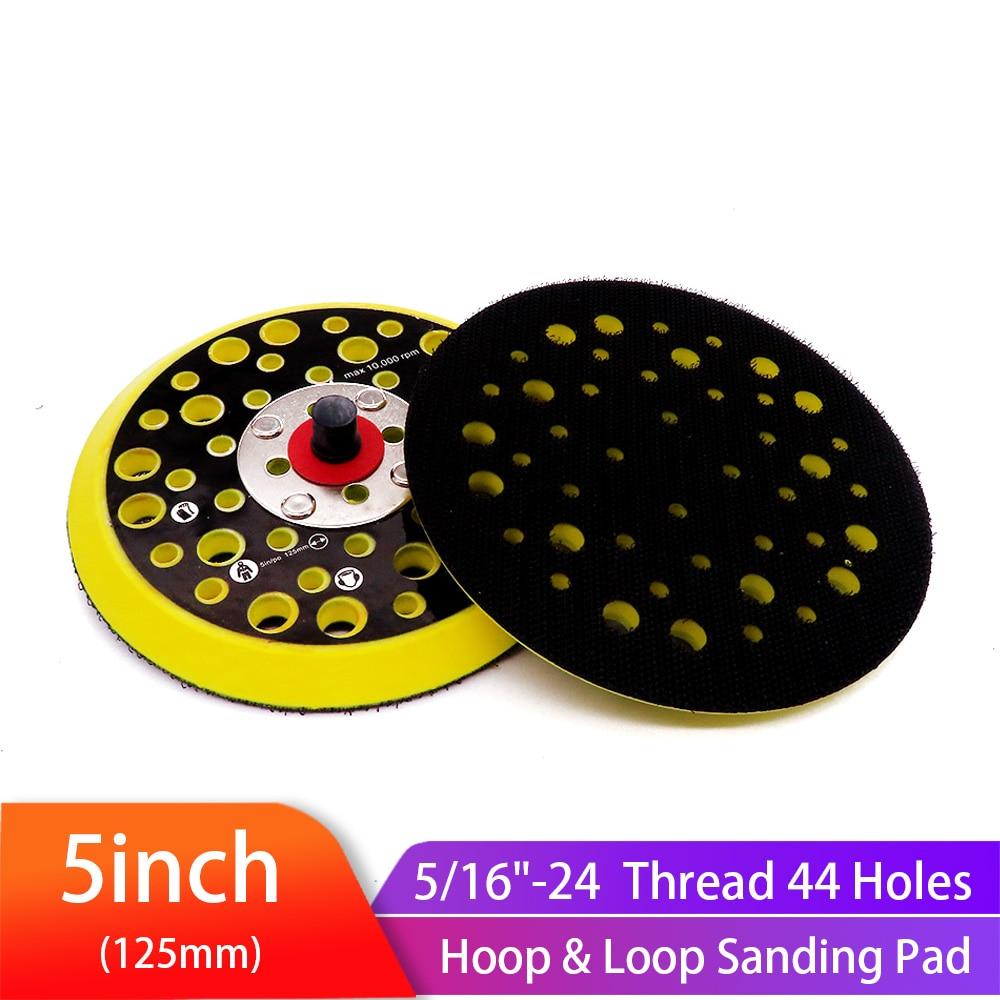5 inch 125mm 44 Holes Sander Backing Pad Hook&Loop Sanding Pads with 5/16