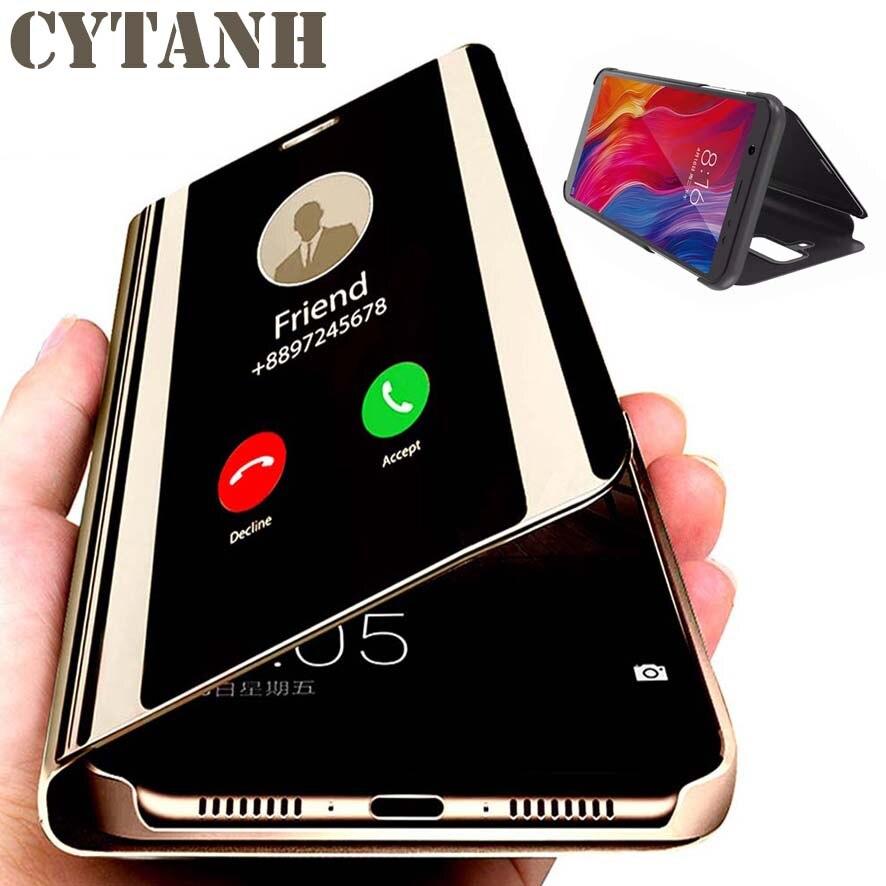 Умный зеркальный Чехол-книжка для Samsung Galaxy A10 A20 A30 A40 A40 A40 A40 a 10 20 30 40 A105 A305 A405