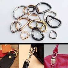 5pcs Metal Heavy Duty Strong Handbag Shoulder Hand Bag Purse Strap Belt Web O Dee D Ring Buckle Clasp DIY Leather Craft 5 size