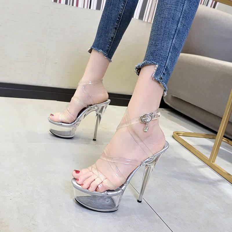 High-heeled Shoes 18cm Female Waterproof Bride Shoe