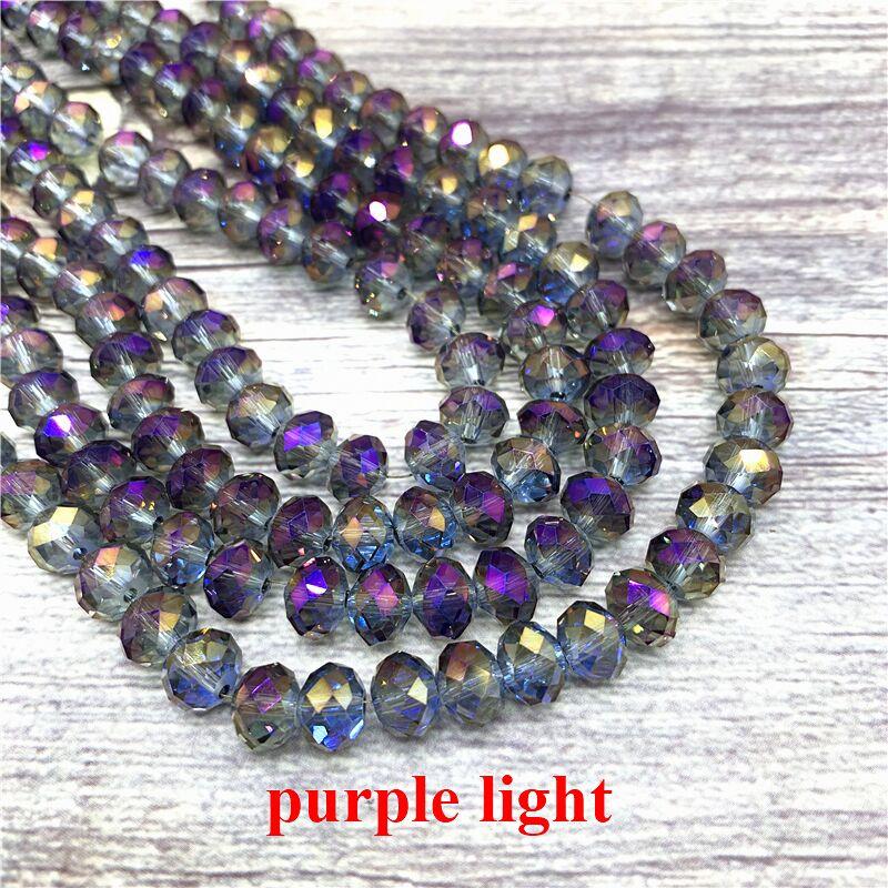 2X3/3X4/4X6/6X8 мм хрустальные бусины AB разноцветные стеклянные бусины Sapcer для ювелирных изделий ручное кольцо Ожерелье Изготовление DIY - Цвет: Purple light