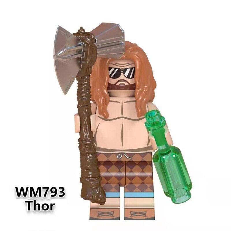 Single Avengers Endgame Thor Captain America Iron Man Howard Carter Black Panther Shuri Gamora Hawkeye Building Blocks Kids Toys