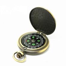 Pocket-Watch Compass Outdoor-Tool Retro Vintage 1-Pc Bronze Men's