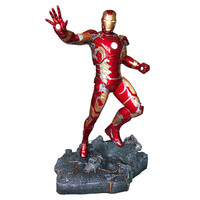 50cm Avengers Super Hero Iron Man Mk43 Battle Form Statue Resin Full length Action Figure Collectible Model Toy Gift