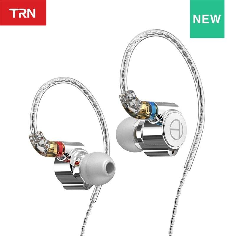 TRN TA1 Hi-Fi 1BA + 1DD гибридные (Knowles 33518,8 мм динамические) наушники-вкладыши HIFI бас Металлический монитор для бега спортивные наушники