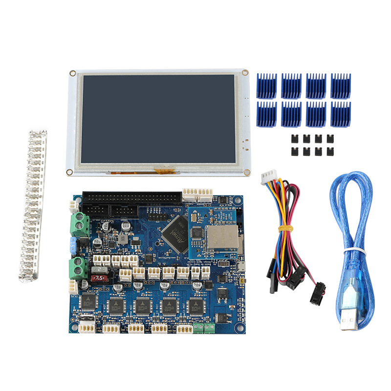 Clone Duet 2 Ethernet Motherboard + PanelDue5I Integrated Color Press Screen 3D Printer Kit image