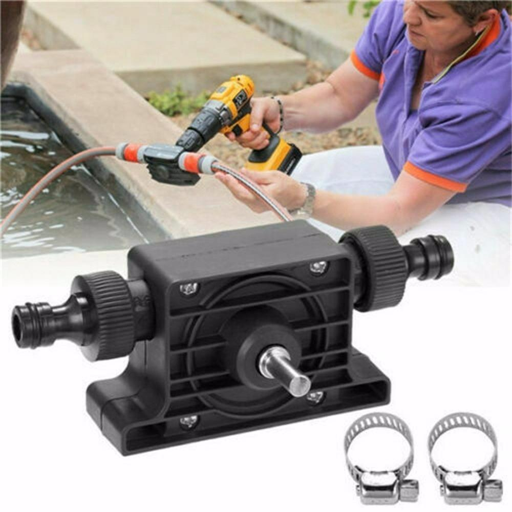 Portable Electric Drill Pump Sinks Aquariums Pool Self Priming Transfer Pumps Oil Fluid Water Pump Hose Clamps Connectors Set