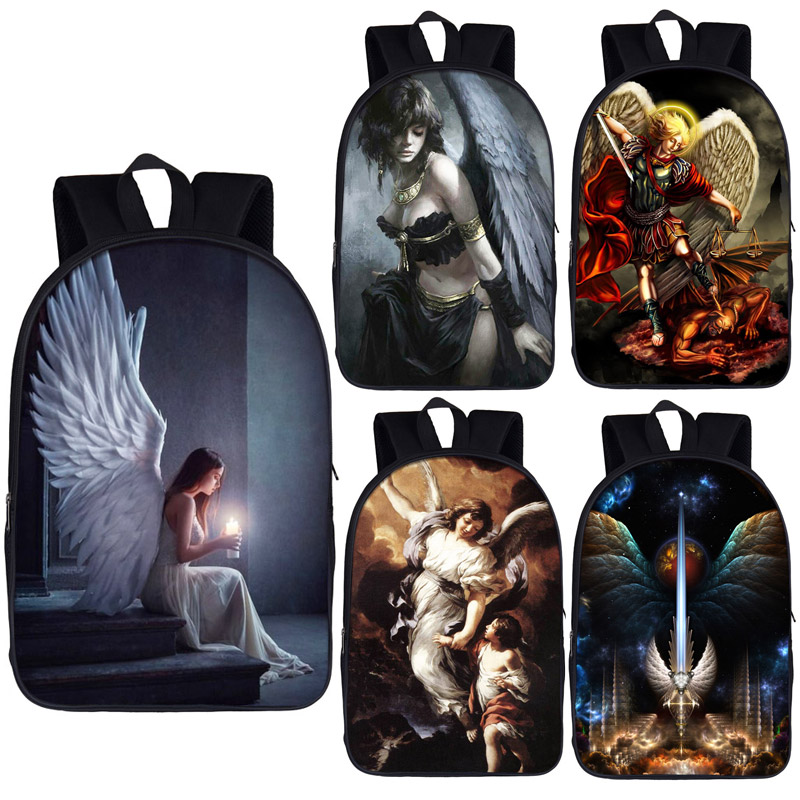 Sad Angel With Wing Backpack Women Casual Daypack Rucksack Children School Bags For Teenager Boys Girls Book Bag Laptop Backpack