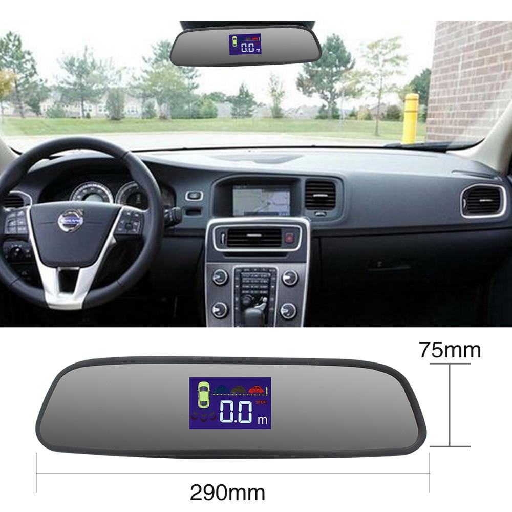 Black LED Display Car 4 Parking Sensor Reverse Backup Radar Alarm System Kit