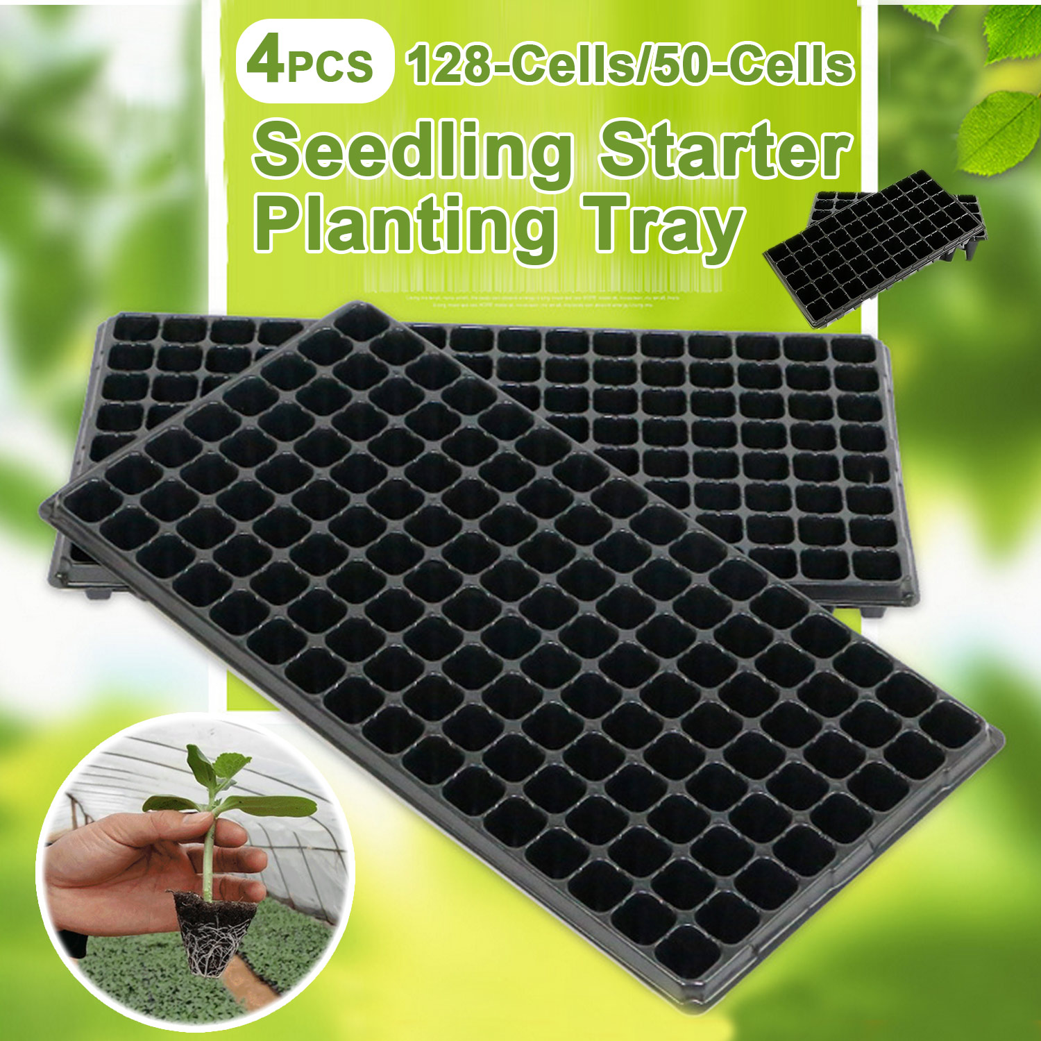 Behogar 100pcs Peat Pellets Plant Seedling Soil Blocks Starting Plugs Garden Tools for Indoor Home Gardening Greenhouse 30mm
