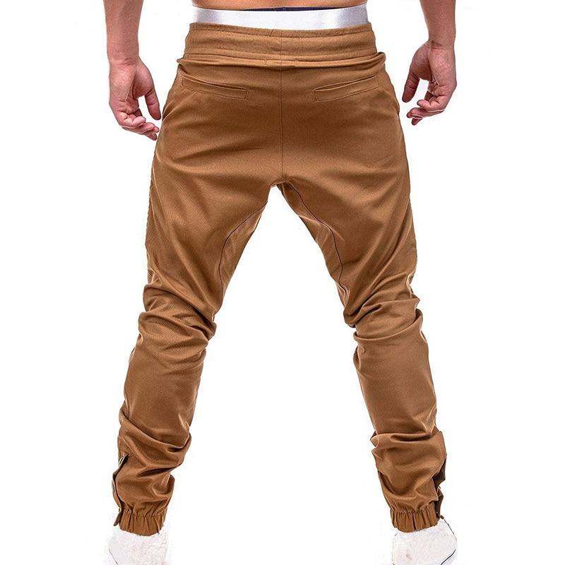 Men Casual Joggers Pants Solid Thin Cargo Sweatpants Male Multi-pocket Trousers New Mens Sportswear Hip Hop Harem Pencil Pants