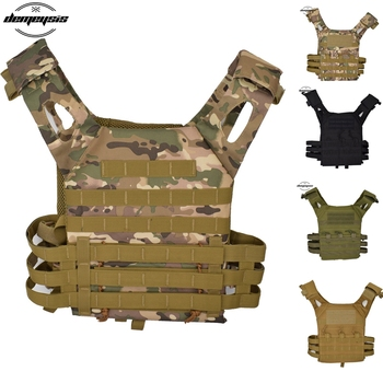 Tactical JPC Vest Military Body Armor Plate Carrier Tactical Vest Lightweight Molle Armor Camouflage Hunting Vest military army combat jpc plate carrier molle vest tactical outdoor hunting shooting men airsoft paintball protective body armor