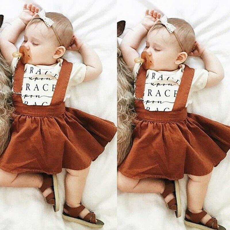 Newborn Baby Girls Skirts Party Casual Tutu Overalls Suspender Skirt 6M-3Y