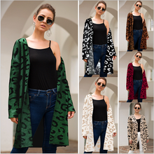 Women's cardigan 2020 spring and autumn women's new sweater popular point four color leopard open front loose