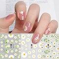 12 шт. наклейки для ногтей маргаритки цветы фрукты искусство для ногтей декоративные наклейки простой Летний стиль передача слайдер LAA1645-1656