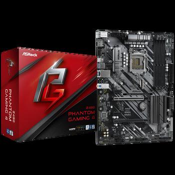 ASROCK Z490 Phantom Gaming 4/Ax Desktop Motherboard WIFI6 Z490 Chipset