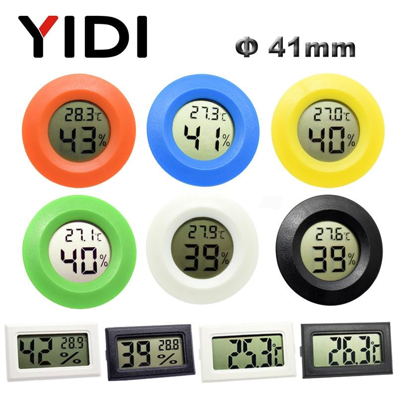 Mini Digital LCD Thermometer Hygrometer Gauge Freezer Tester Temperature Sensor Humidity Meter Detector Monitor Indoor Pet Car