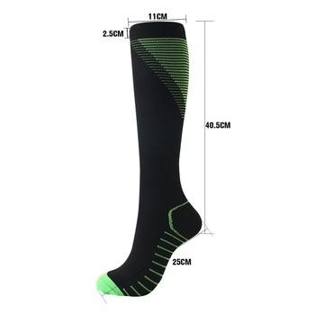 Outdoor Sports Compression Long Socks Footwear Accessories For Unsex Knee Printed Nylon Hosiery