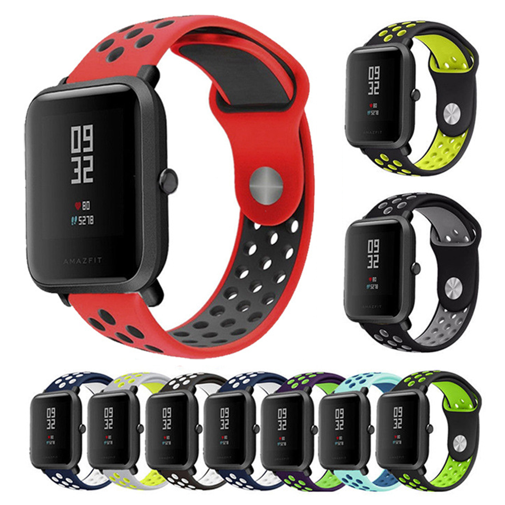 Silica-Strap Belt Tracker-Accessories Smart-Band Fitness 20mm Huami Amazfit for Bip title=