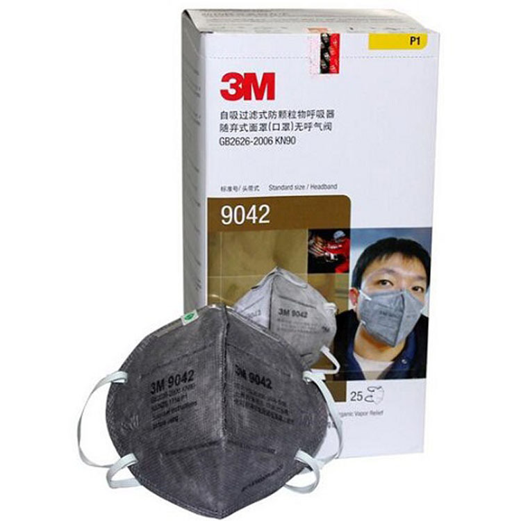 3M 9042V Anti-fog Haze Anti-Dust Face Mask Anti-odor Dust P M 2.5 Head-Mounted Activated Carbon With Valve Face Mask