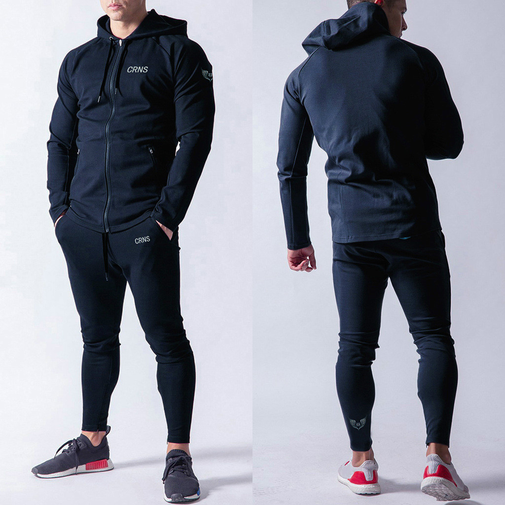 Men Sweatsuit  Tracksuit For Men 2 Pieces Set Hoodie And Sweatpants Jogger Suits For Men