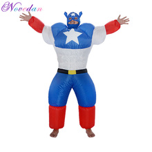 Inflatable Costume Captain-America Clubs Cosplay Dance-Party Carnival for Women Bars