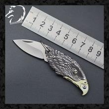 Nowości 3D Print Eagle składany nóż CS Go noże Mini kieszeń breloczek narzędzie noże myśliwskie Survival dla mężczyzny kobiety tanie tanio ELEDEFENSE Metalworking CN (pochodzenie) STAINLESS STEEL Camping Outdoor EDC Knife 2020 Dropshipping
