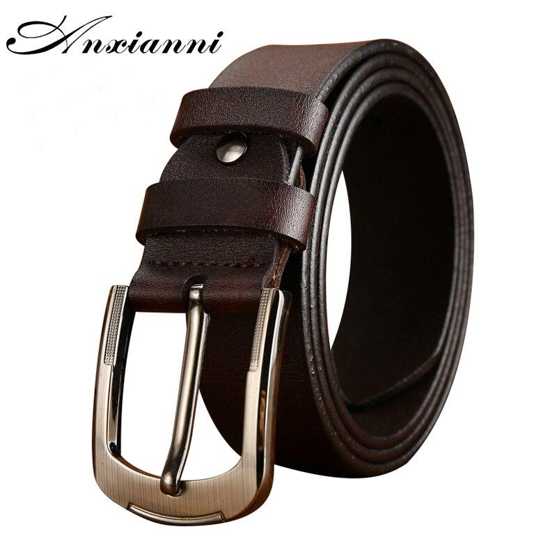 New Men's Belt Male Leather Pin Buckle Metal Buckle  Design Leather Belt Original Handmade Jeans Waistban Luxury Belts 100-135cm