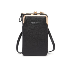 New 2021 Women's Mobile Phone Handbags Wallet Zip Leather Case with Credit Card Holder Slots Large Capacity Small Square Bag