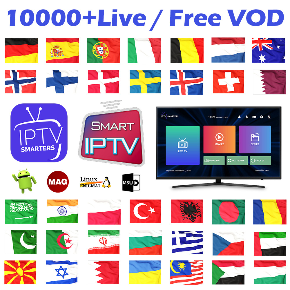 IPTV Subscription Germany Arabic Sweden Norway Denmark Finland Belgium Dutch Portugal Spanish IPTV Android M3u IP TV