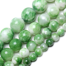 Wholesale Natural Gem stone Green Persian Jades Smooth Round Beads 6mm 8mm 10mm 12mm For DIY Jewelry Making Necklace