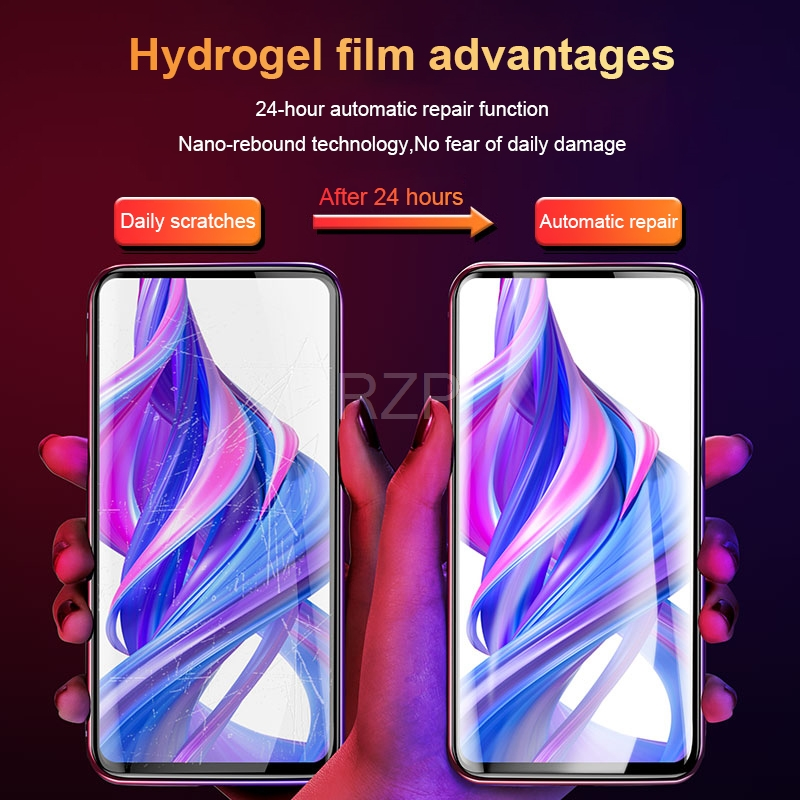 Image 5 - RZP Full Cover Screen Protector For Huawei Honor 9X Pro 9i 10 lite 20 Pro V20 20i Hydrogel Film For Honor 10 9 lite TPU PET Film-in Phone Screen Protectors from Cellphones & Telecommunications