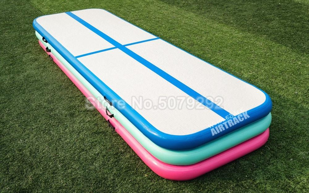Big Discount Inflatable Mini Size Air Track Mats 1-3m Air Track Gymnastics With Pump Blue Pink Color Inflatable Tumble Airtrack