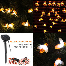 solar garden ligh Party Solar String Lights 19.7ft 30 LED Rope Light Cute Bees 8 Modes Warm White for Home Festival Decoration(China)