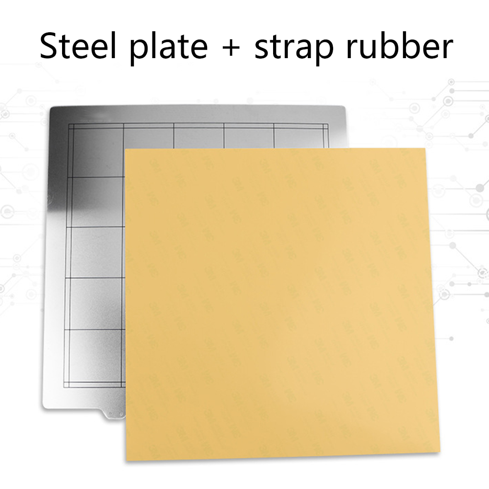 Steel Plate With Adhesive PEI Heated Bed Sheet 3D Printer Accessories OUJ99