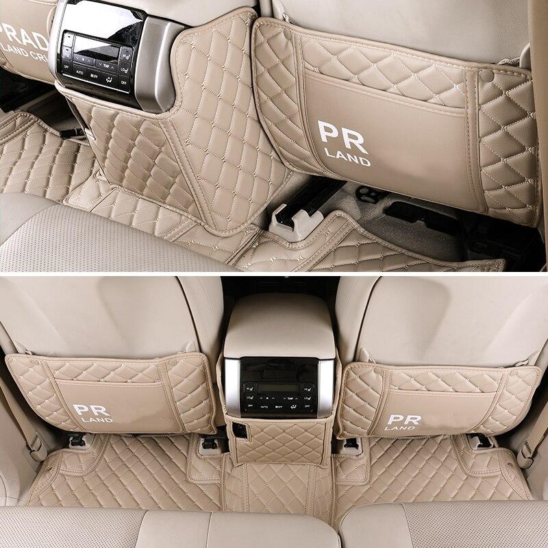 PU Anti-kick Mat Car Interior Seat Protector Side Edge Protection Pad For Toyota Land Cruiser Prado FJ 150 2016 2017 2018 2019
