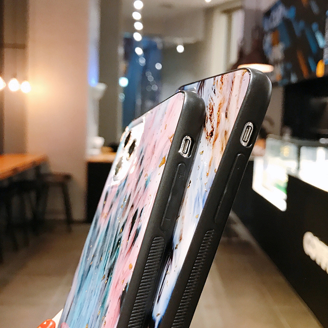 Chic Marble Gold Foil Phone Cases for iPhone 12 11 Pro Max XR X 8 7 6 Plus Glitter Soft Silicone Cover for iPhone XS Max SE 2020 5