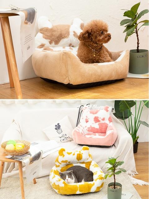 Washable Super Soft Velvet Pet Nest - Cushion Sleeping Bag  6