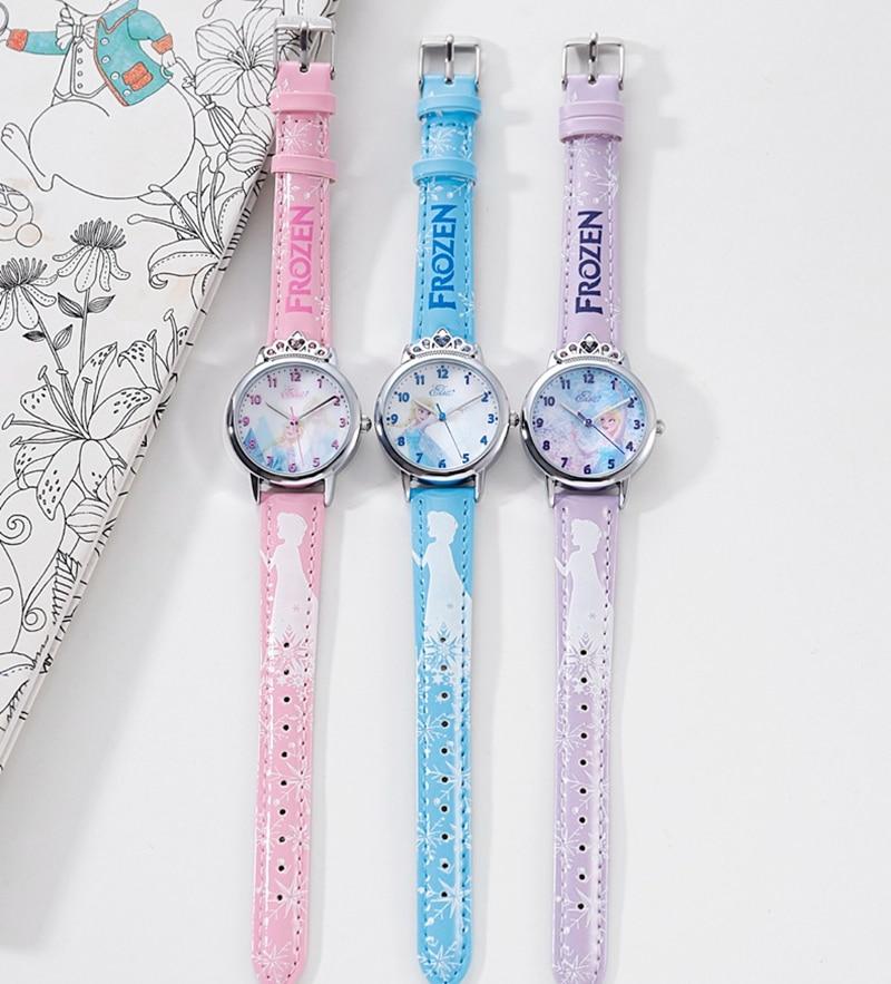 Дети мода повседневная часы для девочки красивая сладкая мечта красочные часы женщины кожа ремешок вечеринка подарок часы дети время Эльза