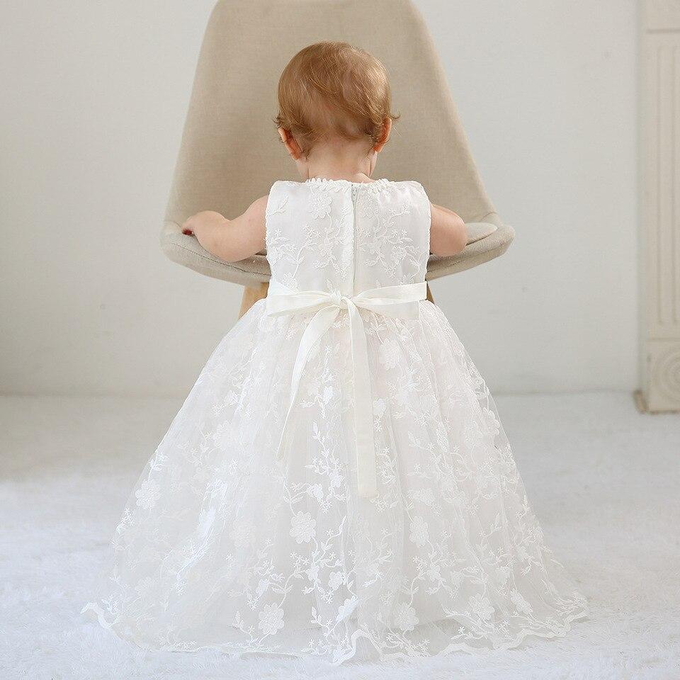 bbwowlin neugeborenen baby weiß lange taufe kleid mit hut