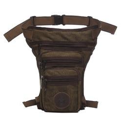 الرجال قماش حقيبة متدلية من الوسط على الساق عبر الجسم رسول حقيبة كتف عادية حزام الورك بوم فاني الخصر حزمة للسفر دراجة نارية ركوب