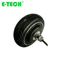 E tech 6 inch gearless DC e scooter 36V 48V 250W 350W hub motor wheel|Scooter Parts & Accessories| |  -