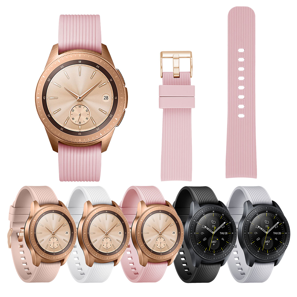 Silicone Watchband For Samsung Galaxy Watch 42mm Sport Replacement Bracelet Band Strap For Samsung Smartwatch Strap Fashion
